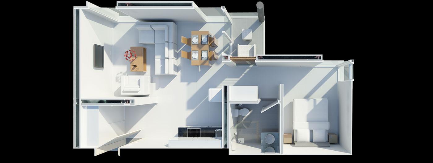Floorplan Deluxe One Bed Suite
