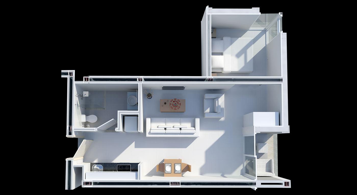 Floorplan Deluxe Studio