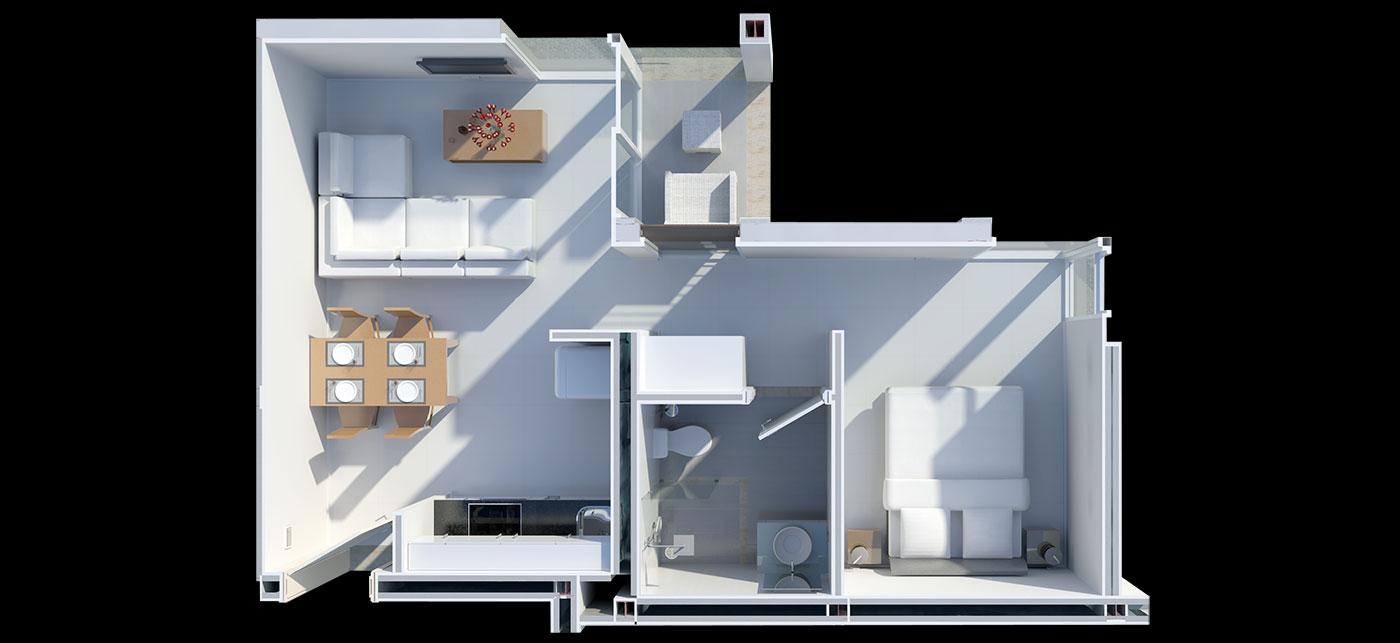 Floorplan One Bed Suite - Best Value