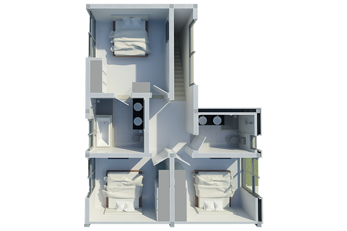 Town House Floor Plans