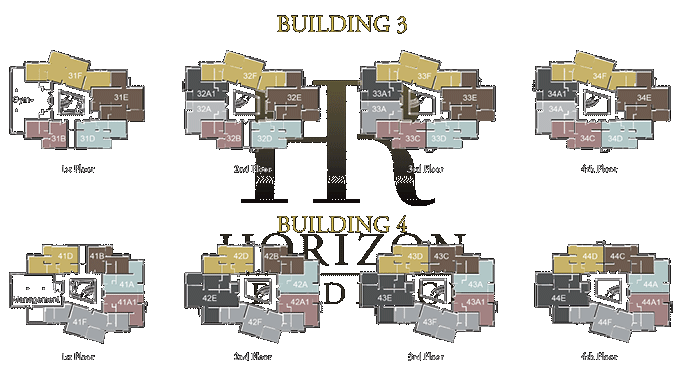 Plans for Buildings 3 and 4